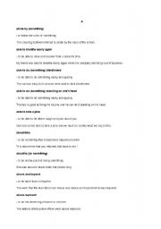 English Worksheets: idioma A