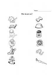 esl kids worksheets pets. Black Bedroom Furniture Sets. Home Design Ideas