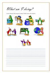 English worksheet: What am I doing?