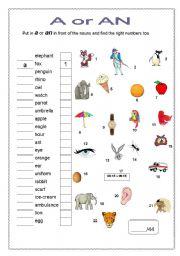 Worksheets A Or An Worksheet a or an worksheet by sivert 50 english an