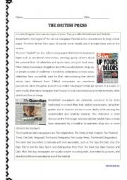 English Worksheets: The British Press