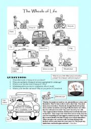 English Worksheets: The Wheels of Life