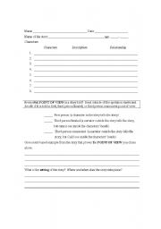 Worksheets Short Story Worksheet english teaching worksheets short stories novel or story worksheet
