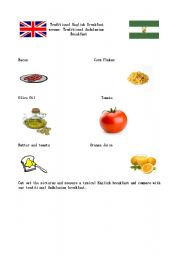 English Worksheet: Traditional Andalusian Breakfast versus Traditional English Breakfast Part 1