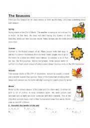 english worksheets the seasons worksheets page 19. Black Bedroom Furniture Sets. Home Design Ideas