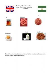 English Worksheet: Traditional Andalusian Breakfast versus Traditional English Breakfast Part 2