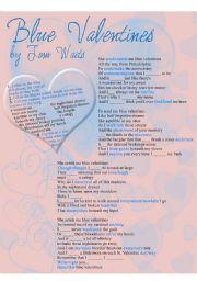 English Worksheet: Blue valentines