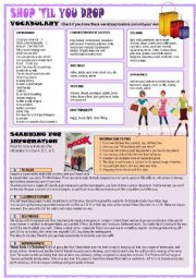 English Worksheets: SHOP �TIL YOU DROP
