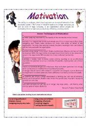 English teaching worksheets: Motivation