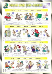 English Worksheet: Phrasal Verbs (Eighth series). Exercises (Part 2/3). Key included!!!