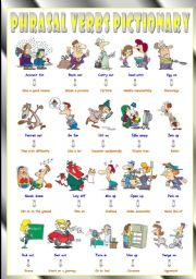 English Worksheets: Phrasal Verbs (Eighth series). Pictionary (Part 1/3). Egg on = Encourage