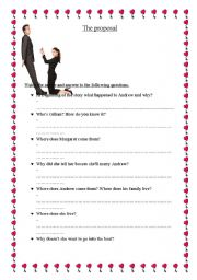 English Worksheets: Movie: The proposal