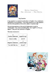 English Worksheets: The Jetsons - The movie - Let�s practise tag questions