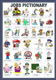 English Worksheets: JOBS PICTIONARY