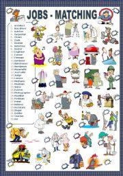 English Worksheet: JOBS - MATCHING