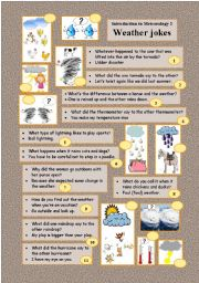 English Worksheets: Introduction to Meteorology 2 WEATHER JOKES