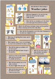Introduction to Meteorology 2 WEATHER JOKES