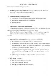 English Worksheets: how to write a composition