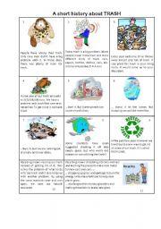 English Worksheet: A short history about trash