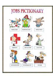 JOBS PICTIONARY