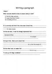 English Worksheets: safety at work