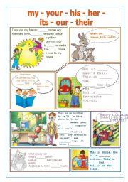 English Worksheet: Possessive adjectives - revision