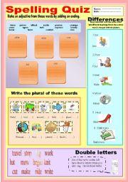English Worksheets: spelling
