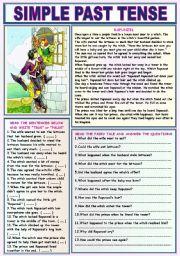 English Worksheet: SIMPLE PAST TENSE (RAPUNZEL)