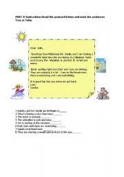 English Worksheets: holiday