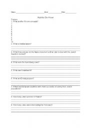 English Worksheets: Night Study Guide