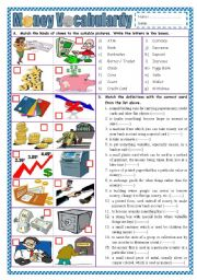 English Worksheet: Money Vocabulary (part 1)