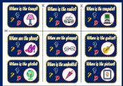 English Worksheet: SALLY�S MESSY ROOM - PLACE PREPOSITIONS BOARD GAME (PART2)