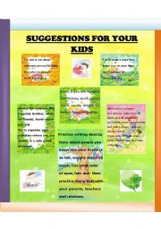 English Worksheets: GOOD SUGGESTIONS FOR YOUR KIDS