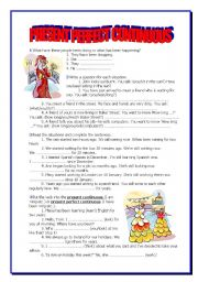 English Worksheet: PRESENT PERFECT CONTINUOUS - 5 pages