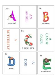 English worksheet: Alphabet Card1
