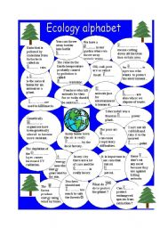 Printables Ecology Worksheets english teaching worksheets ecology alphabet