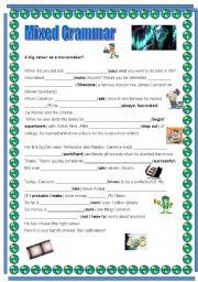 English Worksheet: Avatar - James Cameron Mixed Grammar