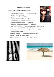 English Worksheets: Shade and Shadow differences