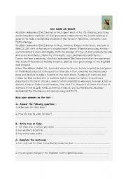 English Worksheets: Abu Bakr Ar-Razi