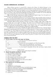English Worksheets: A few biographical facts about William Wallace