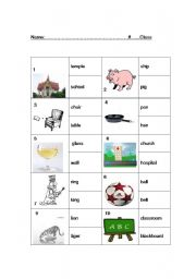 English Worksheets: nouns to remember