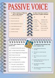 Passive voice exercises pdf perfect english