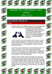 English Worksheet: Inside the continent Asia - Japan (Part 2 of 2) (7 pages)