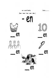 Worksheets En Word Family Worksheets english worksheet en word family