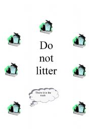 English Worksheets: do not litter
