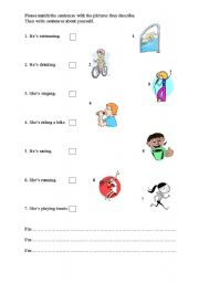 English worksheet: Actions
