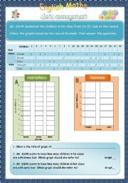 English Worksheets: data management