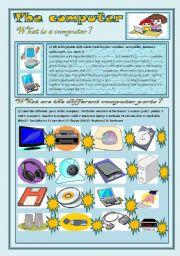 English Worksheet: The computer