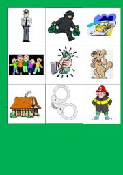 English Worksheet: Story telling activity: The robbery