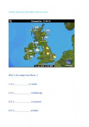 English Worksheet: weather forecast in UK